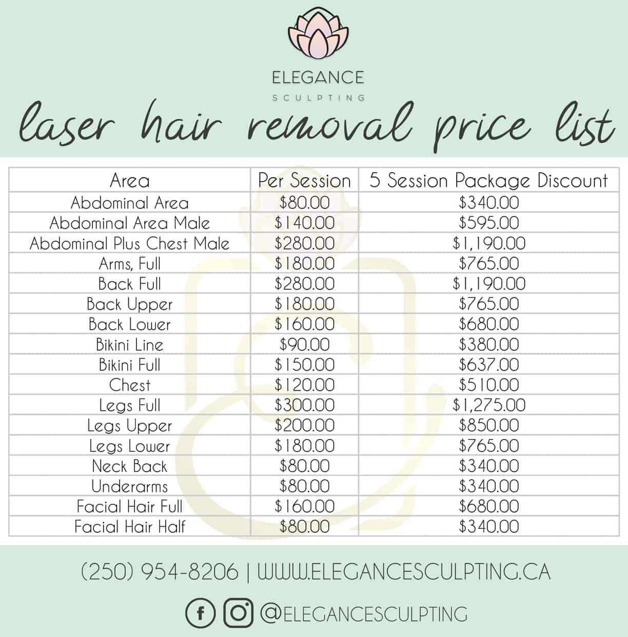 Laser Hair Removal Parksville B C Elegance Sculpting